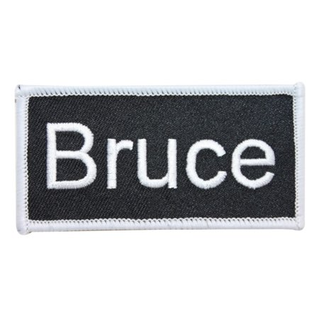 Bruce Name Tag Patch Uniform ID Work Shirt Badge Embroidered Iron On Applique
