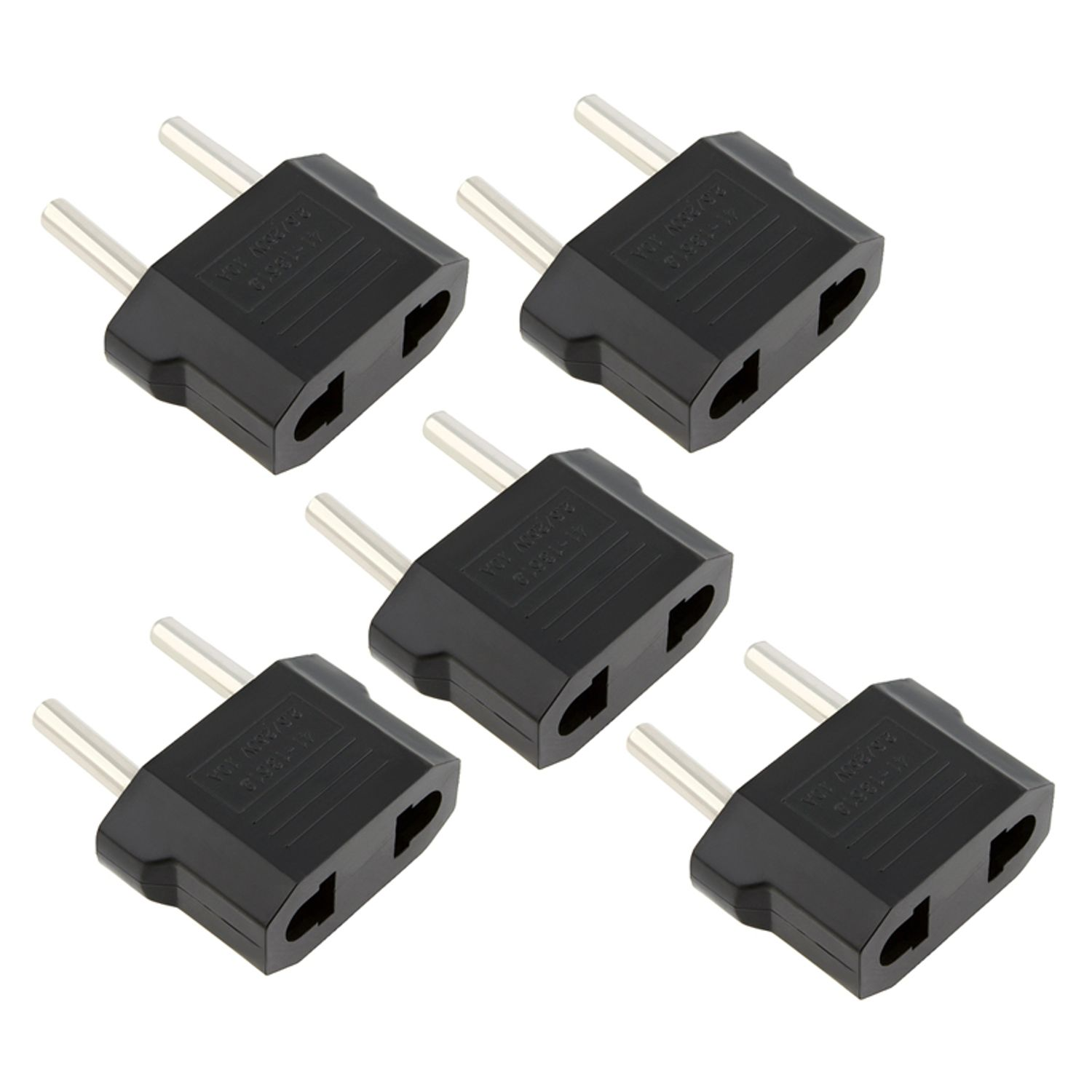 Insten 5X USA US to EU Europe Travel Adapter Power Converter Wall Plug