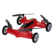 Cheerwing Syma X9 Fly Car 2.4Ghz 4CH RC Quadcopter Drone Car with 6-Axis Gyro, Red