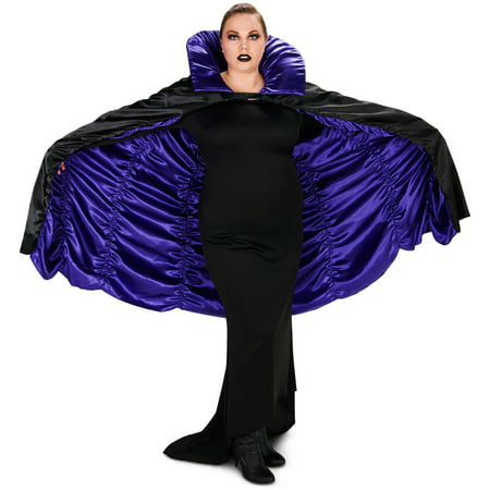 Purple and Black Reversible Cape Adult Plus Halloween Accessory - Capes For Halloween