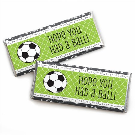 GOAAAL! - Soccer - Candy Bar Wrappers Party Favors - Set of 24 - Soccer Parties