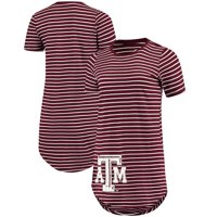 Texas A&M Aggies Women's Sail Away Striped T-Shirt Dress - Maroon