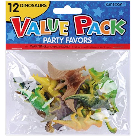 Party Favors, 12-Pack, Dinosaurs