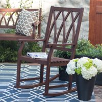 Belham Living Ashbury Indoor/Outdoor Wood Rocking Chair - Dark Brown