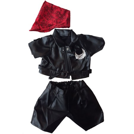 Easy Rider Biker Outfit Teddy Bear Clothes Fits Most 14