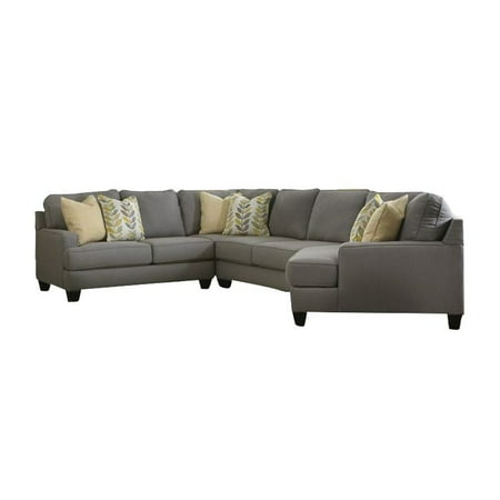 Signature Design by Ashley Furniture Chamberly 4 Piece Sectional Sofa in  Alloy