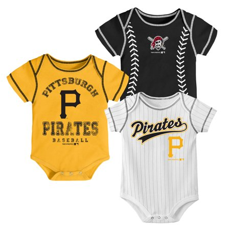 MLB Pittsburgh PIRATES Onesie Creeper BOY 3PK 100% Cotton ASSORTED Colors 0M-18M](Pittsburgh Pirates Tattoos)