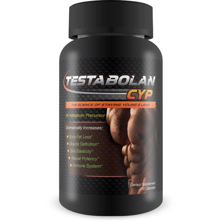 Testabolan Cyp- Natural Testosterone Booster- Promotes Body Fat Loss, Muscle Definition, Skin Elasticity, Immune System- Dietary Supplement 60