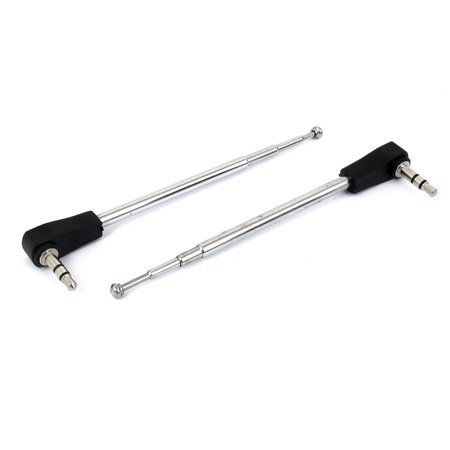 2pcs Telescopic 4 Sections 3.5mm Adapter Antenna Aerial Mast RC Radio Controller