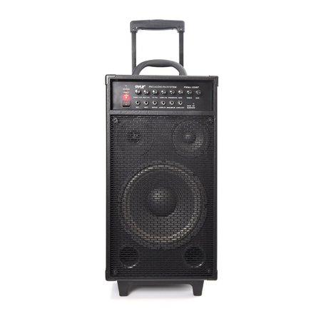 Pylepro Pwma1050bt Speaker System - 400 W Rms - Portable, Stand Mountable - Battery Rechargeable - Wireless Speaker[s] - Black - 35 Hz - 20 Khz - Bluetooth - Built-in Battery,