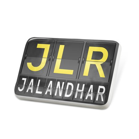 Porcelein Pin JLR Airport Code for Jalandhar Lapel Badge – (Jlr Gear)