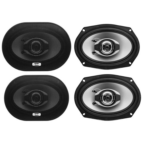 "4)  SOUNDSTORM GS269 6x9"" 700 Watt 2-Way Car Audio Speakers"