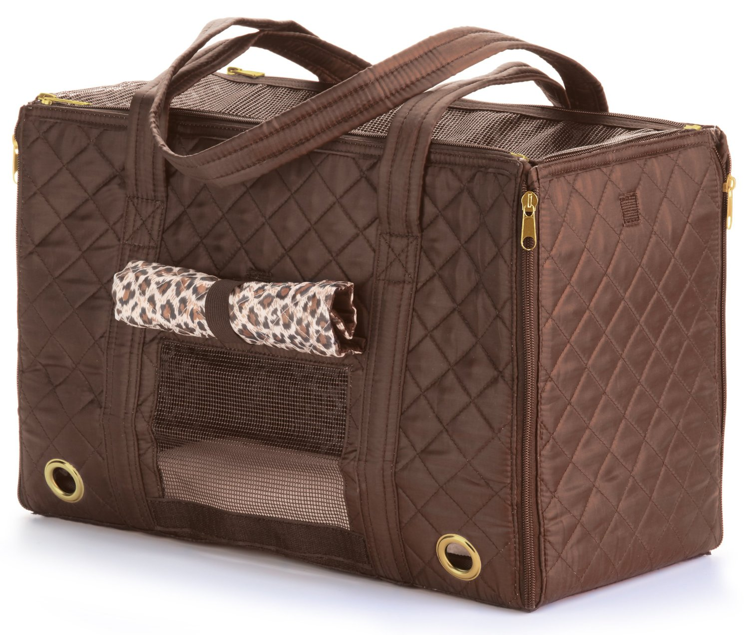 Sherpa Park Tote Pet Carrier, Small Brown by Quaker Pet Group