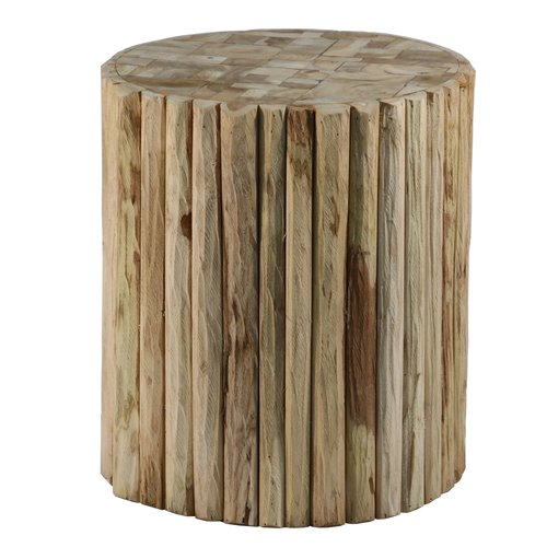 Ibolili Round Natural Teak Wood Stool