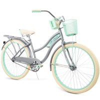 """Huffy, Nel Lusso Classic Cruiser Bike with Perfect Fit Frame, Women's, Gray, 26"""""""