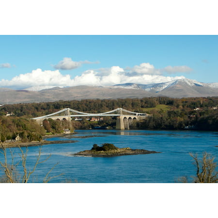 - Framed Art For Your Wall Menai Suspension Bridge Anglesey Wales Thomas 10x13 Frame