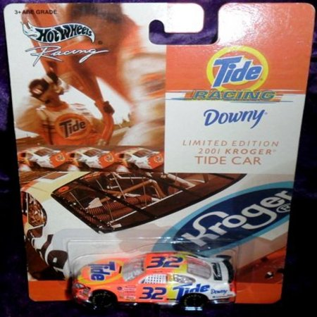 2001   Mattel   Hot Wheels Racing   Nascar   Tide Racing   2001 Kroger Tide Car    32   Ricky Craven   Ford Taurus   Very Rare   Card Is Near Perfect   1 64 Scale Die Cast Metal   New   Out Of Product