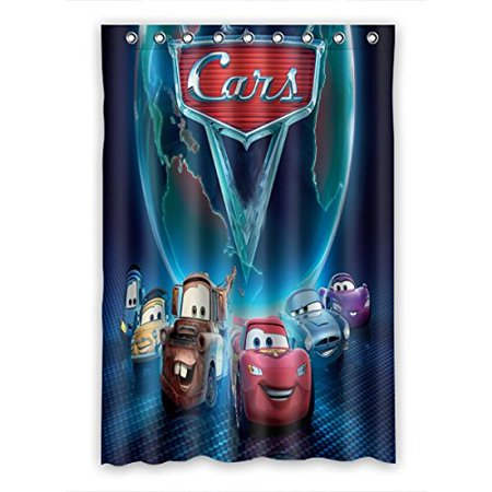 DEYOU Cars Lightning Mcqueen Shower Curtain Polyester Fabric Bathroom Size 48x72 Inches