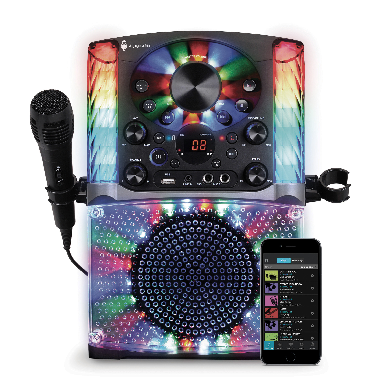 Singing Machine SML625BTW Bluetooth CD+G Karaoke System by The Singing Machine