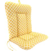 "Jordan Manufacturing Outdoor 21"" x 38"" x 3.5"" Euro Style Chair Cushion, 1-Pack - Hockley Banana"