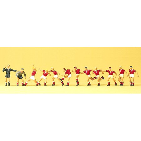 Preiser HO Scale Model Figure/People Set Recreation & Sports 12-Man Soccer Team (Model People Figures)