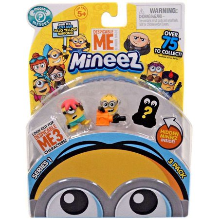 Despicable Me 3 Mineez Series 1 Starfished Minion & Leaf Blower Minion Mini Figure 3-Pack