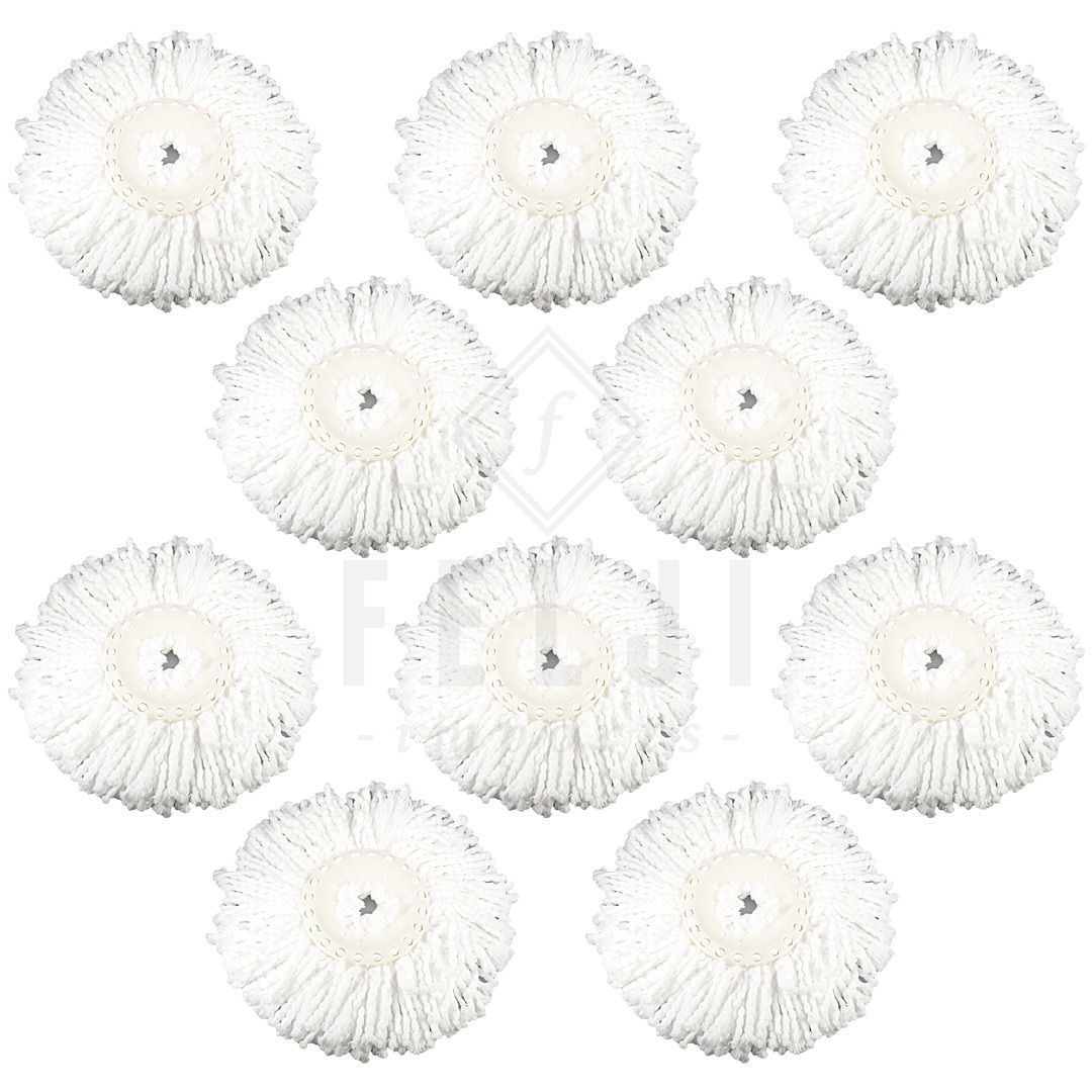 10 Replacement Microfiber Mop Head Refill For Hurricane Magic Mop 360 Spin Felji by