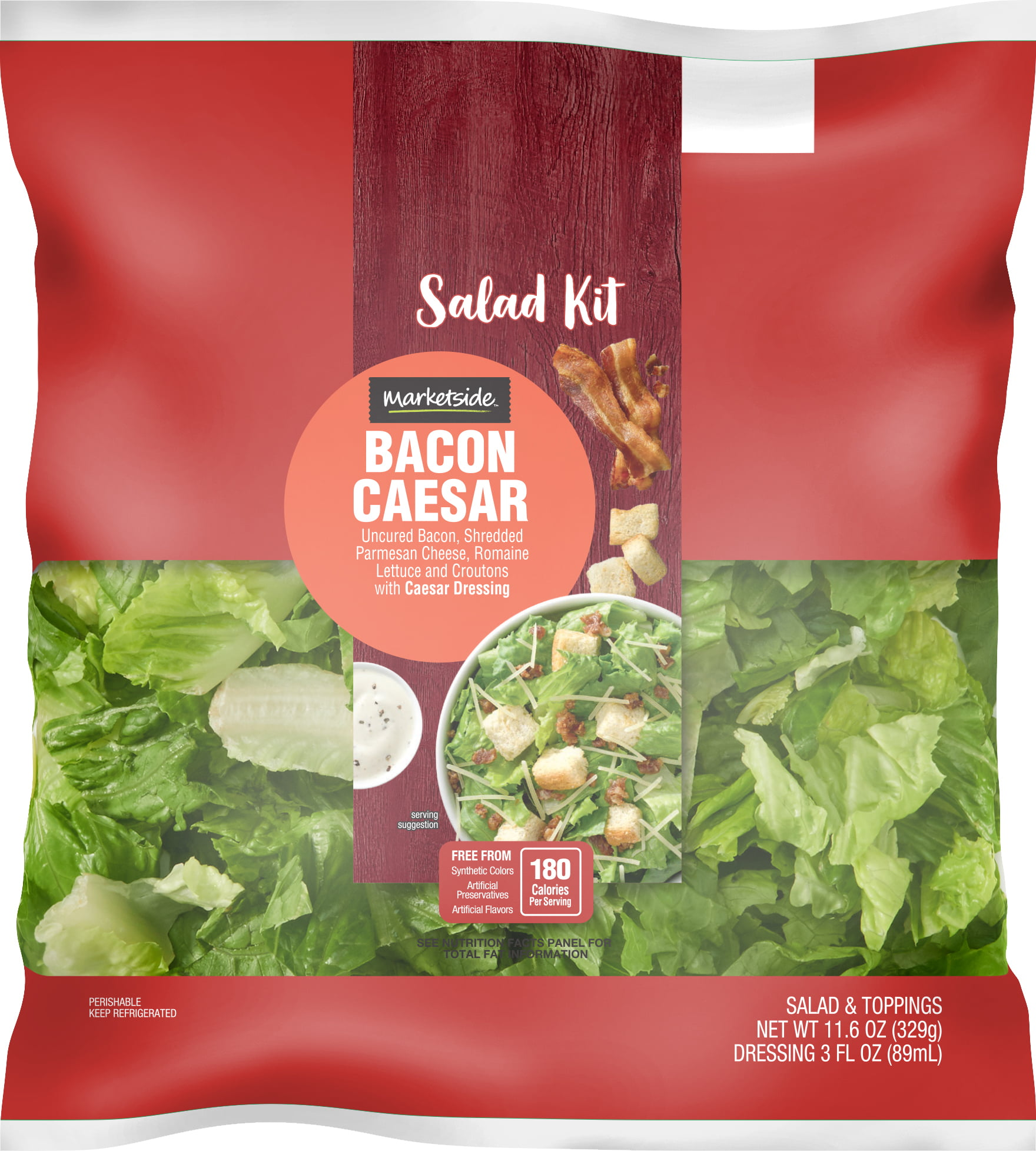 Marketside Bacon Caesar Salad Kit, 11.7 oz