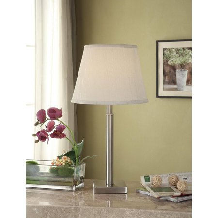 Mainstays Table Lamp Base Brushed Nickel Finish Walmart Com