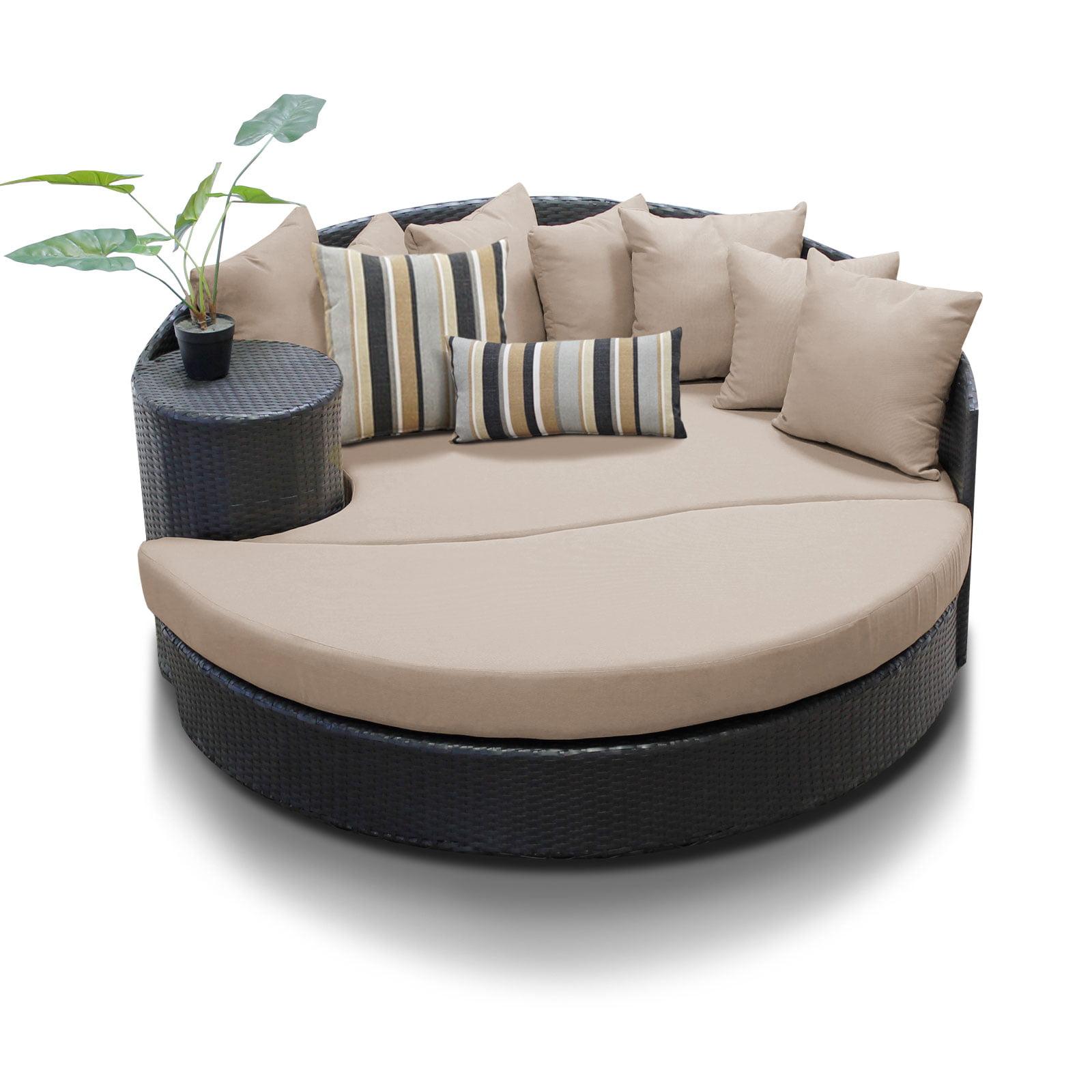 Zen Circular Sun Bed Outdoor Wicker Patio Furniture by TK Classics