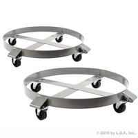 2 Heavy Duty Drum Dollies 1000 Pound 55 Gallon Swivel Casters Wheel Steel Frame Non Tipping Hand Truck Capacity Dolly by Drum Dollies