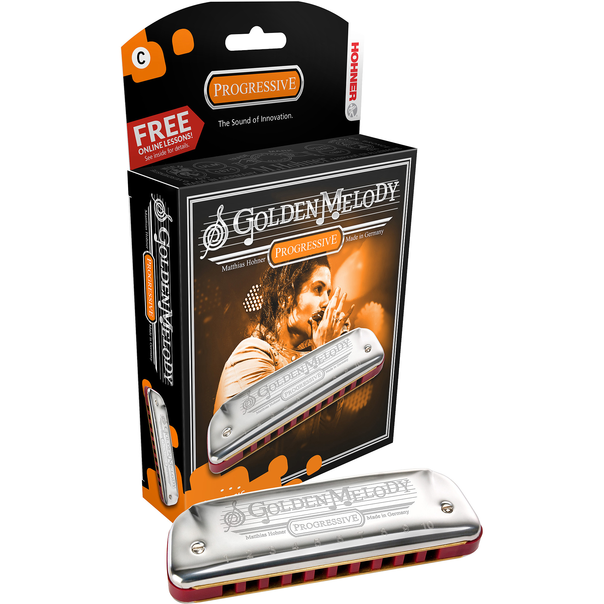 Hohner Golden Melody Harmonica Boxed Key of C