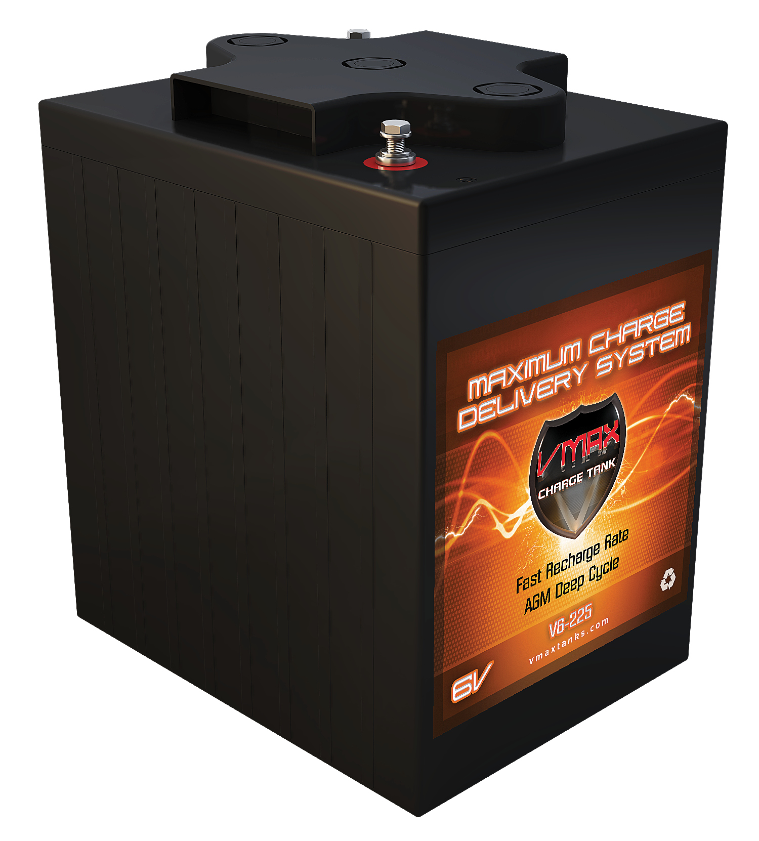 VMAX V6-225 GC2 AGM Deep Cycle Battery Replacement for E-...