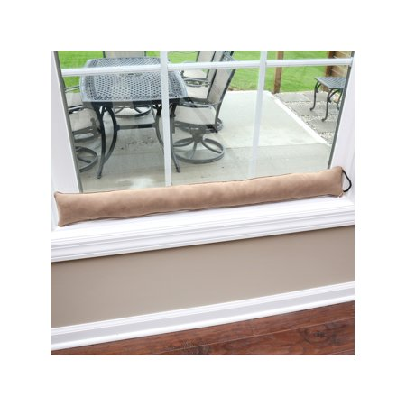 Home District Faux Suede Draft Dodger - Weighted Door/Window Breeze, Bug and Noise Guard Stopper Blocker - 35.5