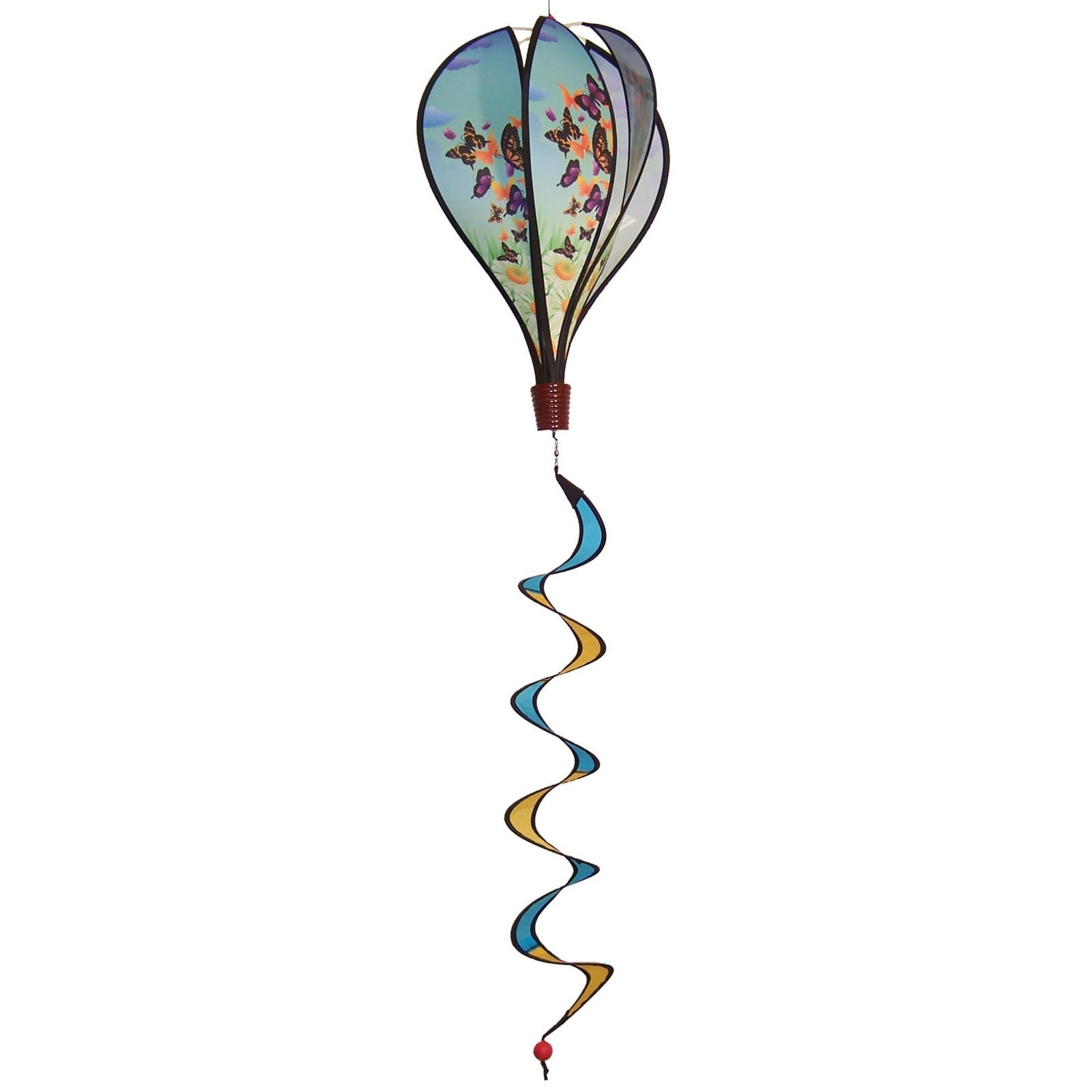 In the Breeze Butterfly Swarm Hot Air Balloon Wind Spinner by Gold Crest Distributing LLC