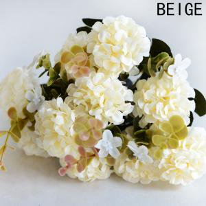KABOER 10 Head Artificial Ball Chrysanthemum Silk Flower Simulation Fake Plant Wedding Flowers Decoration Home ()