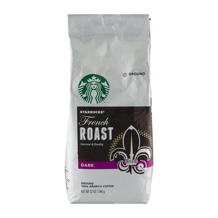 Starbucks French Roast Dark Roast Ground Coffee, 12-Ounce