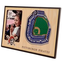 Pittsburgh Pirates 3D StadiumViews Picture Frame - Brown