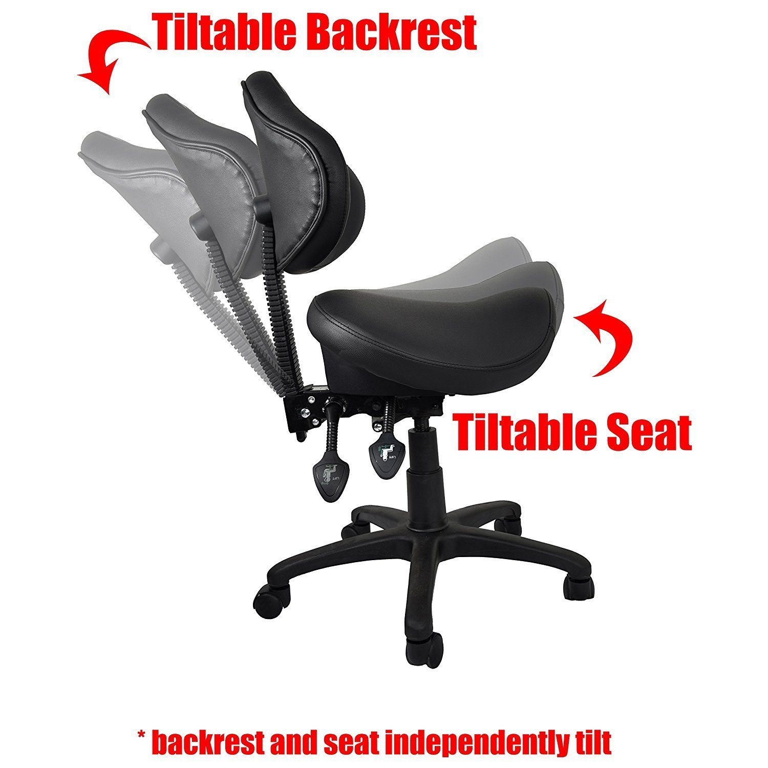 2xhome - Ergonomic Adjustable Rolling Saddle Stool Chair with Back Support for Clinic Hospital Pharmacy Medical  sc 1 st  Walmart & Product islam-shia.org