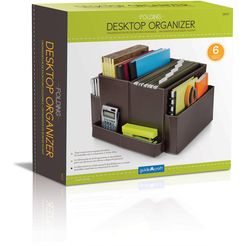 Desk Organizer Folding Desk Organizer Brown Brown Walmartcom