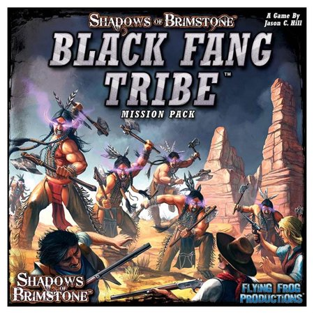 1.75 Black Frog (SOBS: Black Fang Tribe - Mission Pack Shadows of Brimstone: Board Game Flying Frog Productions)