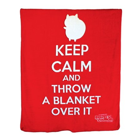 Bravest Warrior Catbug Microplush Blanket Keep Calm Throw A Magnificent Keep Calm And Throw A Blanket On It