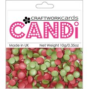 Candi Dot Embellishments .35oz-Holly Berries