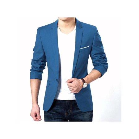 Topumt Men's Fashion Casual Slim Fit Formal One Button Suit