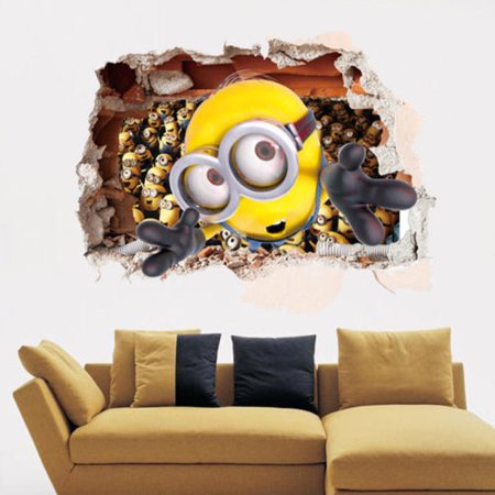 Minion Room Decor (Despicable Me 2 Minions Removable Wall Sticker Art Decal Kids Room Decor)