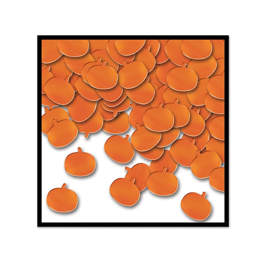 Club Pack of 12 Orange Fanci-Fetti Halloween Pumpkin Celebration Confetti Bags 1 oz.