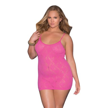 Flirty Plus Size Seamless Lace Mini Dress Lingerie Walmart