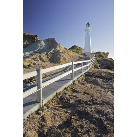 Castle Point Lighthouse, Wellington, North Island, New Zealand Print Wall Art By Rainer Mirau - Halloween Wellington Point