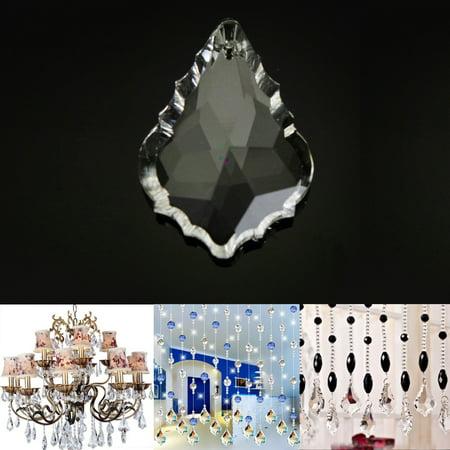 1pc Gold Maple Leaf Glass Crystal Prisms Light Pendant Parts Lamp Chandelier