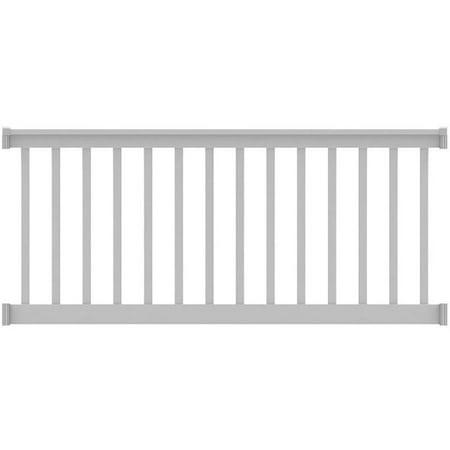 Deck Railing Finyl Line T-Top Vinyl White Square 8 ft x 36 ...